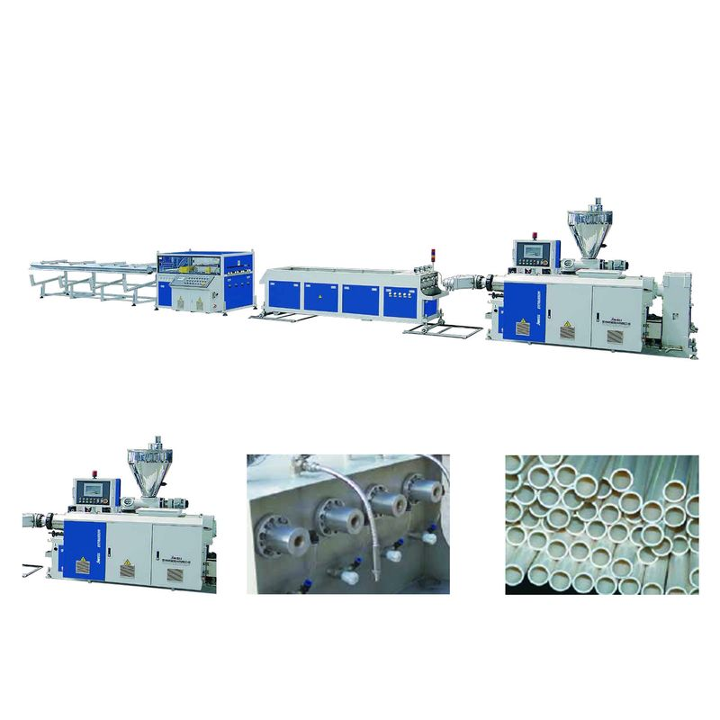 Jwell Pvc Pipe Extruder Two Stand And Four Stand Electric Protection Pipe Plastic Machine